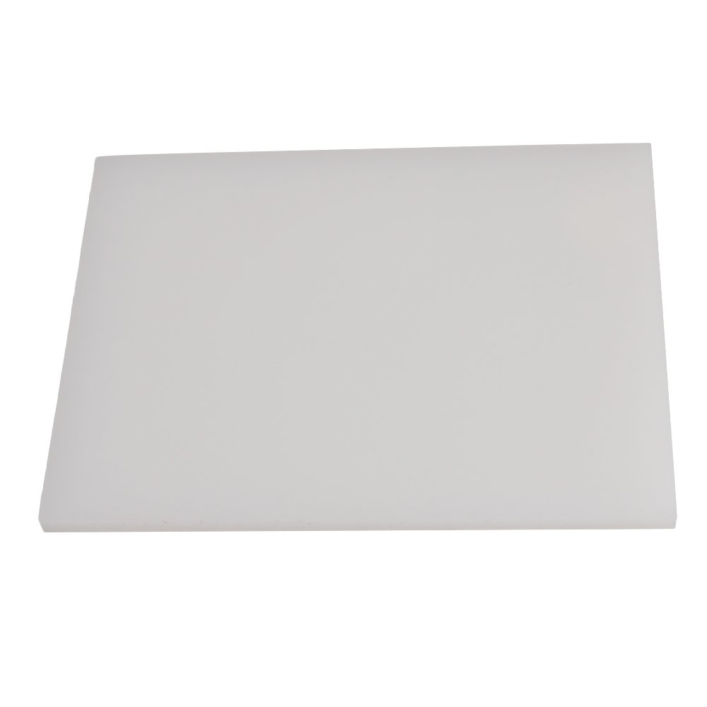 BQLZR 19x14.2x0.9cm White Poly Leather Cutting Board Leather Punch Stamping Tool Craft DIY