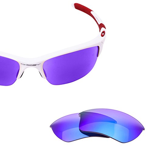 LenzFlip Lens Replacement for Oakley HALF Jacket 2.0 XL Sunglass - Gray Polarized with Blue Mirror - Xl Half Polarized 2.0 Jacket