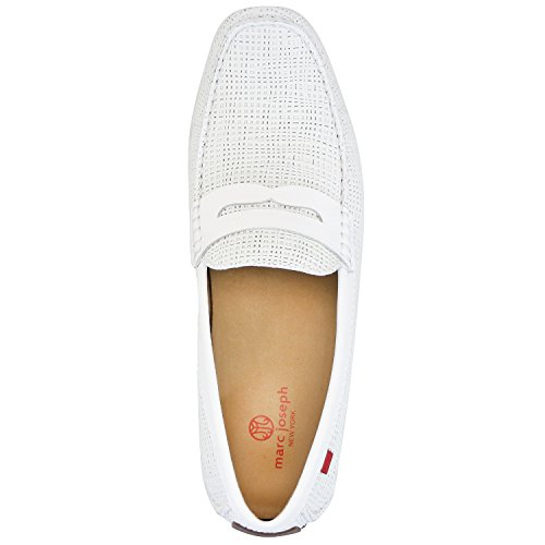 Men's Genuine Leather Made in Brazil Union Street Driver Marc Joseph NY Fashion Shoes White Basket Leather sale extremely cheap sale 2014 unisex buy cheap footlocker finishline sale cheapest price E32cUCg