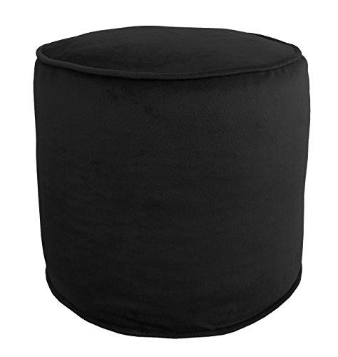 Metje 0818OT Black Majestic Cylinder Pouf - Ottoman,Black,17