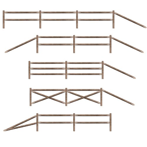 Split Rail Fence Party-Props Party Accessory (1 count) (Wild West Costume Images)