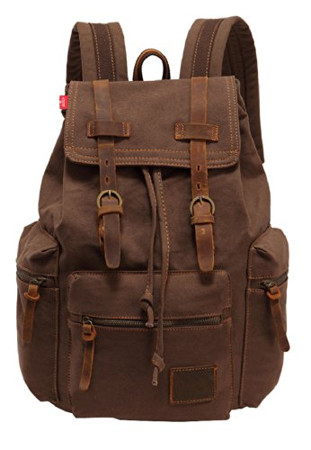 SAIERLONG MrBP Men's And Women's Backpack brown Canvas