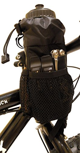 Moosetreks Bike Handlebar Stem Bag | Food Snack Storage, Water Bottle Holder | Bikepacking, Bicycle Touring, Commuting, Insulated Pouch by Moosetreks (Image #8)