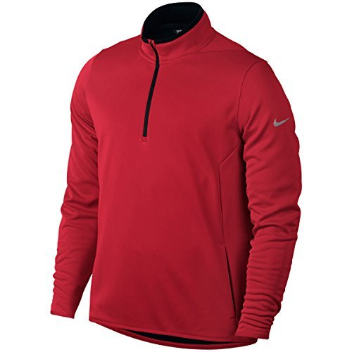 (Nike Golf 2016 Hypervis 1/2 Zip Cover up Mens Golf Pullover University Red Small)