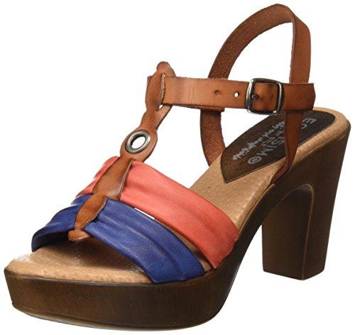 Egoisimo 20049015, Sandalias con Plataforma para Mujer Varios colores (Cuero /     Multi)