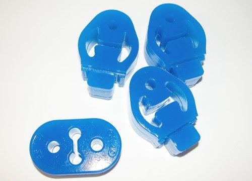 CORKSPORT 2007-2009 Mazdaspeed 3, 2004-2009 Mazda 3 - Urethane Exhaust Hangers - Blue -