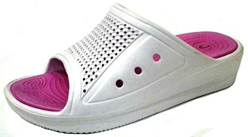 dema - Zapatillas de estar por casa de Material Sintético para mujer blanco Bianco 37