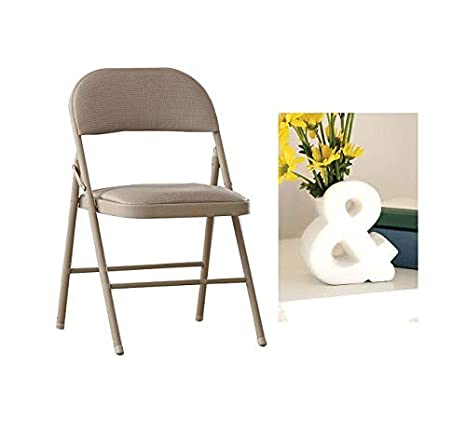 Fine Deluxe Metal And Fabric Folding Chair Set Of 4 With Vase Antique Linen Creativecarmelina Interior Chair Design Creativecarmelinacom