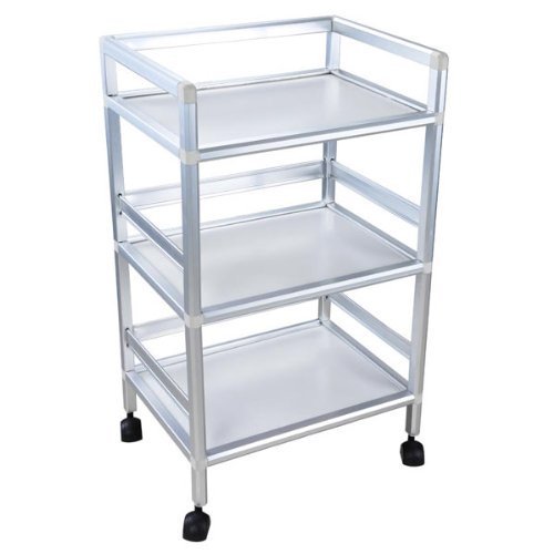 CHIMAERA 3-Tier Rolling Trolley Cart for Salon Clinic Hospital Organizer CHI-12TRL002-AL-3T-11