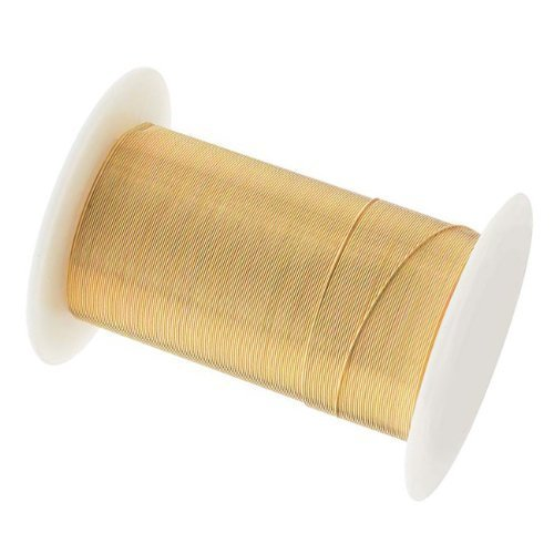 Tarnish Resistant Copper Wire 28 Gauge 40 Yard (36.5m) Gold Color ()