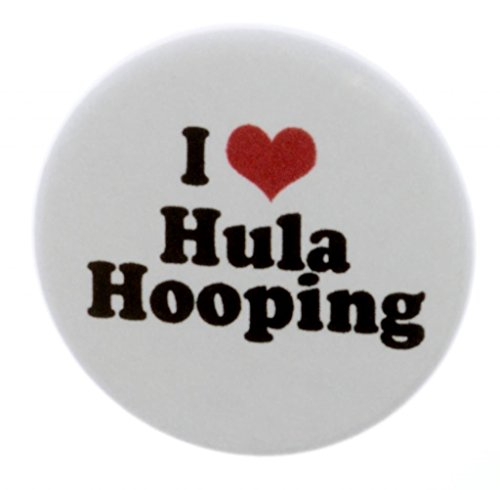 Pinback Love Button (A&T Designs Unisex - I Love Hula Hooping 1.25