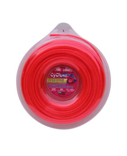 Cyclone CY155D1-12 0.155-Inch by 105-Feet Commercial Trimmer Line, Red (Rotary Heads Cutting Replacement)
