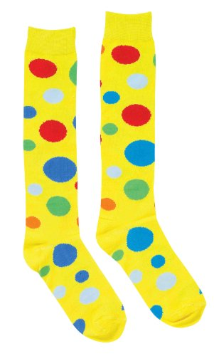 Forum Novelties Women's Adult Polka Dot Clown Socks Costume Accessory, Multi Colored, One Size