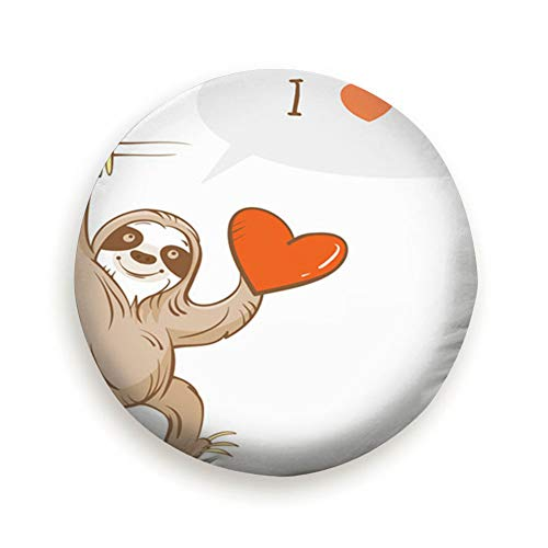 Spare Tire Cover Card By Valentines Day Cartoon Animals Wildlife Sloth Holidays Polyester Water Proof Dust-Proof Universal Spare Wheel Tire Cover Fit For Jeep,Trailer, Rv, Suv And Many Vehicle 14