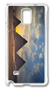MOKSHOP Adorable giza necropolis egypt Hard Case Protective Shell Cell Phone Cover For Samsung Galaxy Note 4 - PC Transparent