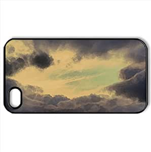 Cloudy Sky Watercolor style Cover iPhone 4 and 4S Case (Sun & Sky Watercolor style Cover iPhone 4 and 4S Case)