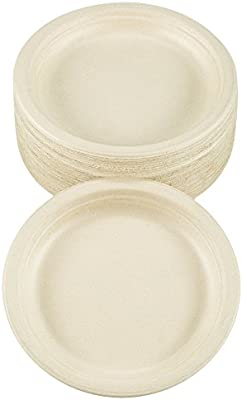 benail 100% compostable y biodegradable plato de bambú y caña de azúcar Eco-friendly con excelente resistencia 7