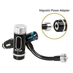 FM Transmitter, iKross Multifunction A2DP Bluetooth Car Radio FM Transmitter with Handsfree - Black
