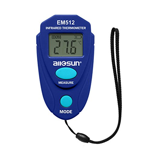 ALLOSUN Non-contact Infrared Thermometer handheld Mini Digital Meter Min/Max Value Reading Temperature Measurement Tester