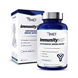 1MD ImmunityMD - Immune Health Probiotic | Potent, Clinically Studied Probiotic Strains with Prebiotic Fiber - Promote Lip, Skin, Oral Wellness, Reduce Stress and Anxiety | 60 Capsules
