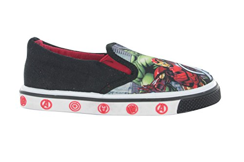 Marvel Avengers Porthowan Casual Canvas Shoes Black Various Sizes