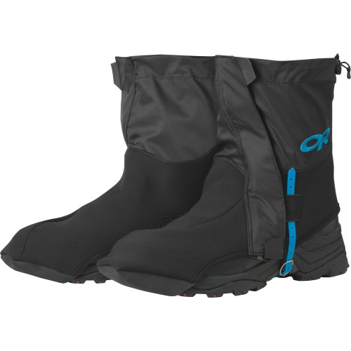 Outdoor Research Huron Low Neck Gaiters, Black, Large