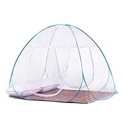 DATONG Pop-Up Mosquito Net Tent for Beds Anti Mosquito Bites Folding Design with Net Bottom for Babys Adults Trip (79 x71x59 inch) …