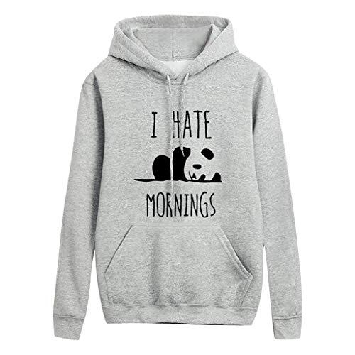 Hoodie for Women Under 5 Dollars, Womens Oversized Warm Double Fuzzy Hoodies Casual Pullover Hooded Sweatshirt Outwear(Gray,6)
