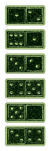Rubber Stamps Inkadinkaclings - Inkadinkaclings Rubber Stamps That Cling, Dominoes