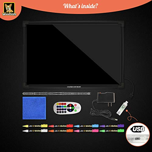 Woodsam-LED-Message-Writing-Board-Flashing-Illuminated-with-Remote-Controlled-Multiple-ColorsSizes-Flash-Modes