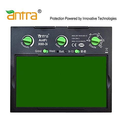 """Antra AntFiX60-3 Auto Darkening Lens Filter Size 3.86"""" x 2.0"""