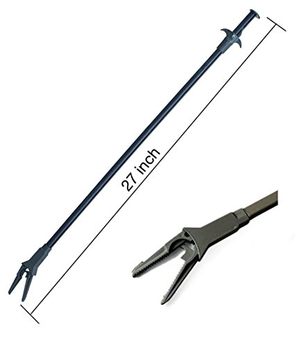 AquaticHI Aquarium Tongs 27 inch (70 cm), 100% Reef Safe, Multi Purpose for Fresh and Saltwater Fish Tanks, Clip Plants, Spot Feed Fish and Coral, Keep Hands Dry and Tank Free from Contamination