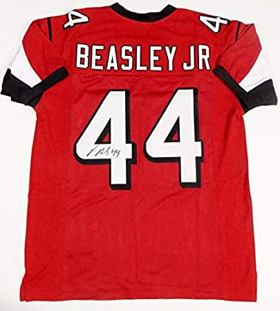 Vic Beasley Jr Autographed Red Pro Style Jersey- JSA W Auth L4 at ...