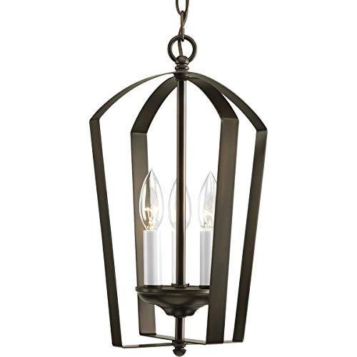 Progress Lighting P3928-20 Gather Collection 3-Light Foyer Pendant, Antique ()