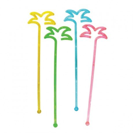 Garcia de Pou Stirrers for Drinks Palm Tree in Box, Polystyrene, Assorted, 30 x 30 x 30 cm Garcia de Pou_144.44