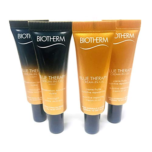 Biotherm BLUE THERAPY SERUM-IN-OIL 20ml (10ml x 2ea) & CREAM-IN-OIL 20ml (10ml x 2ea), travel size