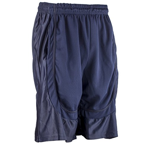 Basketball Shorts Flash - Better Wear Basketball Shorts for Men M Navy.