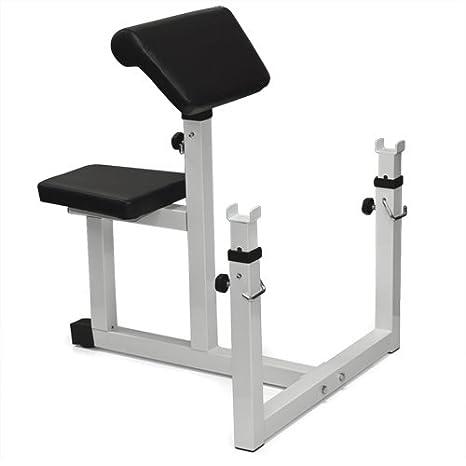Mejor elección productos® Preacher Curl peso banco sentado - Banco de pesas (aislado Curl bíceps nuevo: Amazon.es: Deportes y aire libre