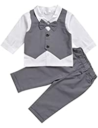 Clothing, Shoes & Accessories Gentle Baby Boy Suit White Outfit Waistcoat Smart Christening Baptism Wedding 3 6 9 12m Christening