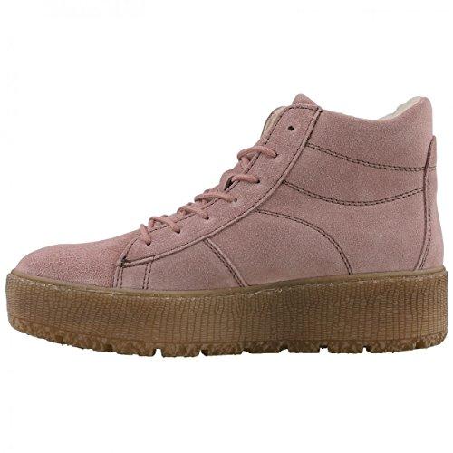 TAMARIS Damen Plateau High-Top Sneakers gefüttert Rosa Rosa (Powder 591)