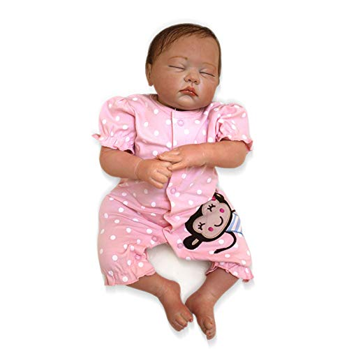 - Nicery Reborn Baby Doll Soft Simulation Silicone Vinyl Cloth Body 20inch 50cm Magnetic Mouth Lifelike Vivid Boy Girl Toy for Ages 3+ Pink Clothes Monkey RD50C502C-OTD