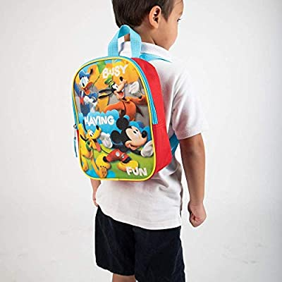 Mickey Mouse Toddler Boys Backpack Book Bag Preschool Mini 10