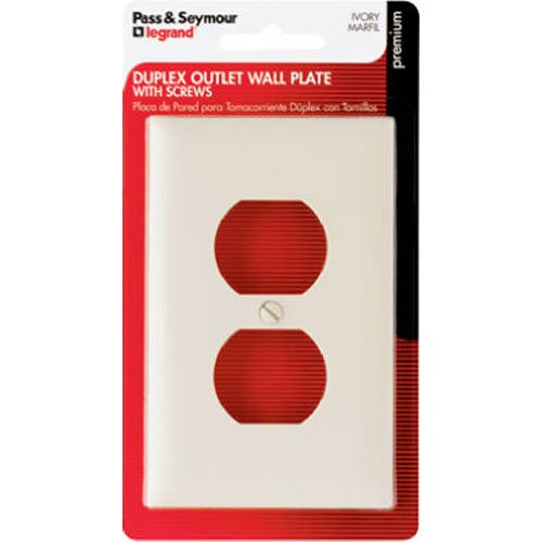 PASS & SEYMOUR TP8IBPCC5 Ivy 1G DPLX Wall Plate