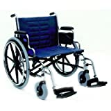 """Invacare IVC Tracer IV Wheelchair 22"""" (450 lbs) with Removable Desk Arms and Footrest-Blue"""