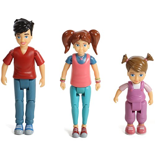 Sweet Li'l Family Set of 3 Action Figure Set: Girl, Boy and - Hills Beverly Kids