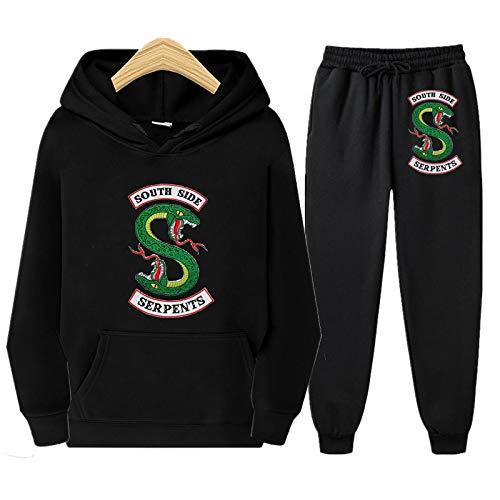 Amacigana® Riverdale Hoodie Kids Sportswear, Outfits Pullover & Broeken, Teenager Unisex, dunne kledingset geschikt voor…