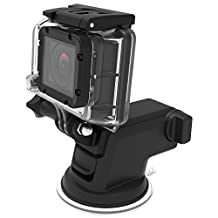 iOttie Easy One Touch GoPro Suction Cup Mount for GoPro Hero 4, Hero 3, Hero 3+, Hero, Session, Silver, Black, White ...
