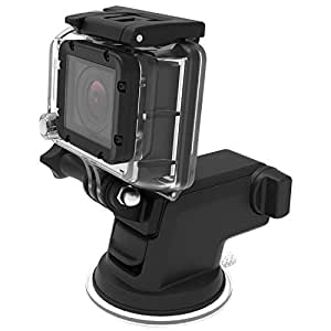 iOttie Easy One Touch GoPro Suction Cup Mount for GoPro Hero 4, Hero 3, Hero 3+, Hero, Session, Silver, Black, White