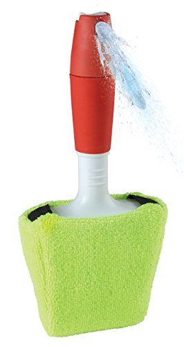 Window Cleaning Auto Glass Cleaner - Cleaner Tool Kit With with Built-in Sprayer Handle - Removable Washable Microfiber Cleaning Cloth Cover For Cars Vehicles Windshield Interior by Perfect Life - Code Promo Glasses