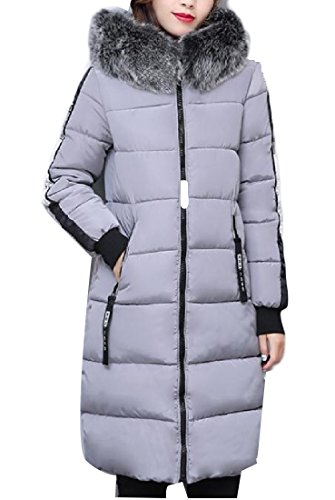 Jacket Keeping Womens Thicken Basic Down Grey Longline AGAING Warm Cotton Zw8xaw